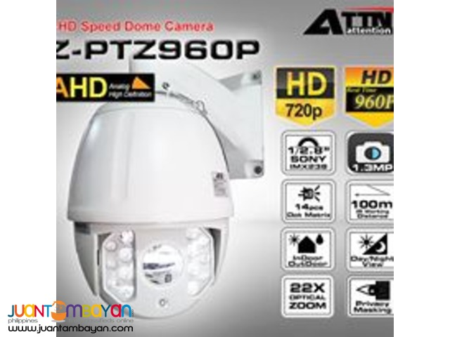 Z-PTZ960P AHD Speed Dome Camera