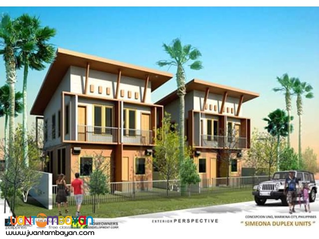 3bedroom Simeona Duplex Units in Marikina Reserve Now!