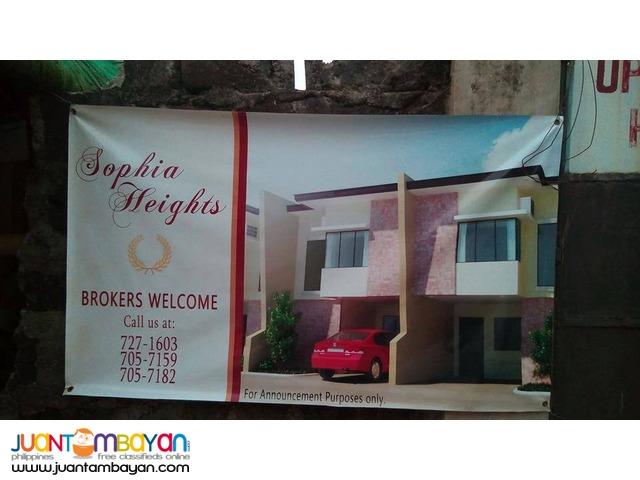 Sophia Townhouse in Marikina 3bedroom