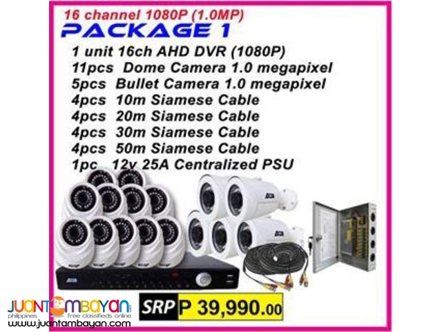 ATTN PAckage  16Channel AHD 720P