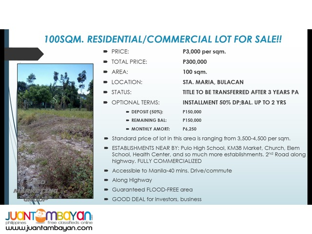 COMMERCIAL/RESIDENTIAL LOTS FOR SALE!! RUSH!!