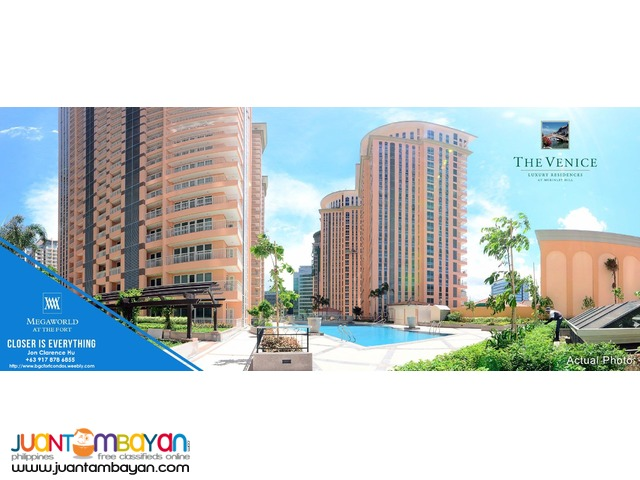 Studio - 3 Bedroom Condos for Sale in McKinley Hill Taguig near BGC