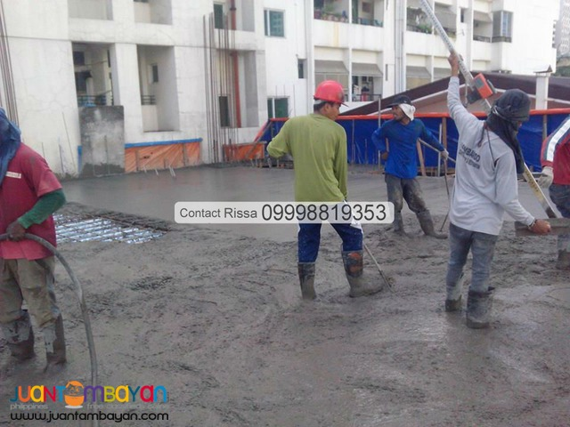 Concrete Placing & Concrete Finishing Services