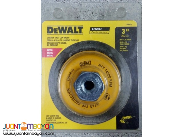 DeWalt DW4915 3-inch by M10 by 1.25 Knotted Cup Brush
