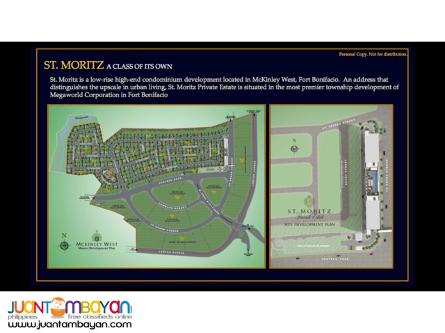 St Moritz Condo for Sale McKinley West near BGC Fort Bonifacio
