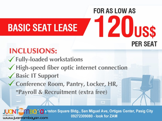 Complete Seat Lease or Seat Leasing Plan