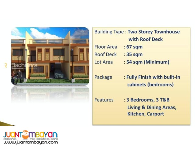 Townhouse 2-Storey as low as P15,642k monthly amort in Lapu2x Cebu