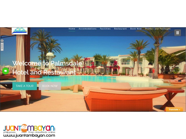 Hotel and Resto Website with booking & ordering for only 15k