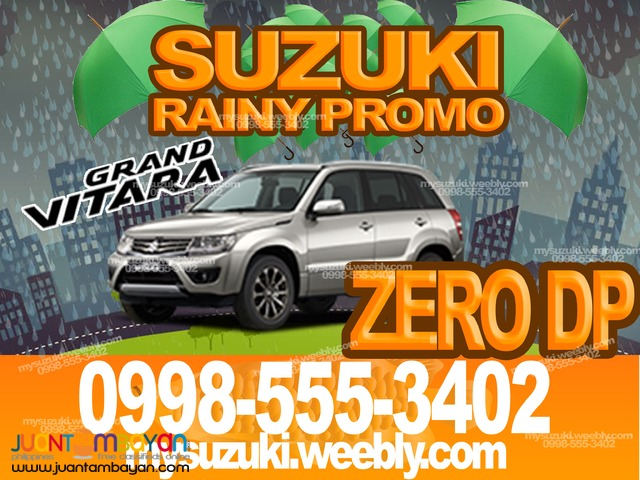 ZERO DP Suzuki Grand Vitara AT 2016 SUV Promo Doctor OFW July Rainy
