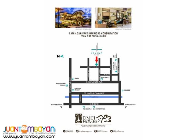 Levina Place 2BR Condo in Rosario Pasig near Ortigas CBD; C5 Road