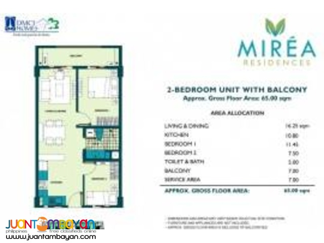 DMCI Mirea Residences 2BR Condo in Santolan Pasig near Eastwood Libis