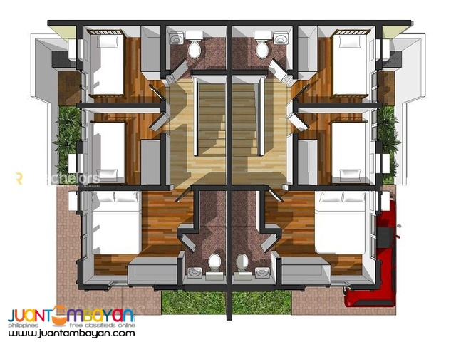2-Storey Single Duplex House for sale as low as P20,969 mo amort