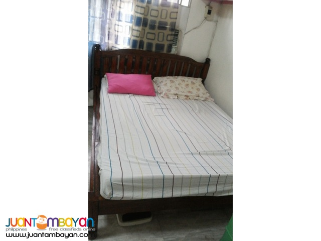 Used - Queen Size Bed with Foam (Wood: Palochina)