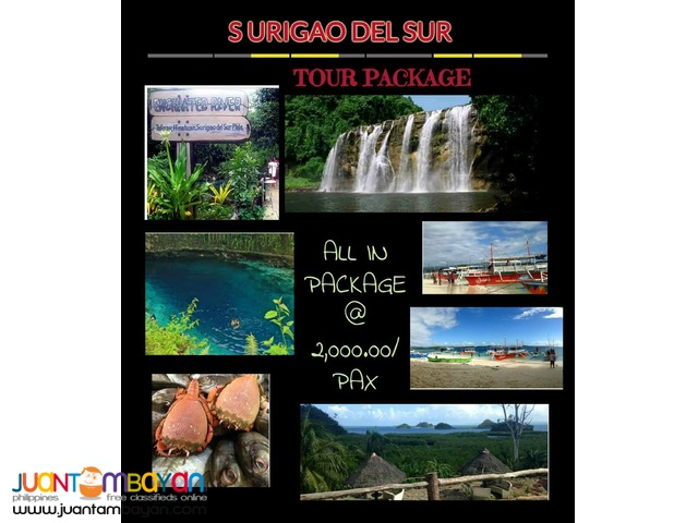 2D1N Surigao del Sur travel packages
