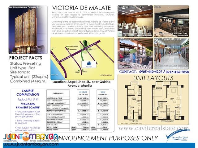 Victoria De Malate Preselling No dp 6k a month