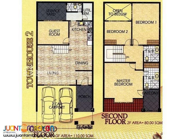 Townhouse 2-Storey as low as P33,873k monthly amort in Mandaue Cebu