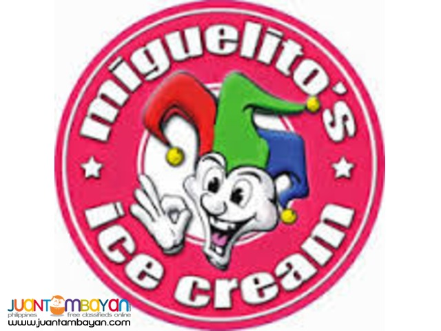 NOW OPEN FOR FRANCHISE  ;   MIGUEITOS ICE CREAM