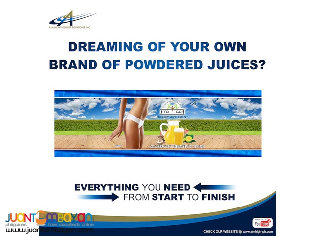 Private label your own brand of Powdered Juices