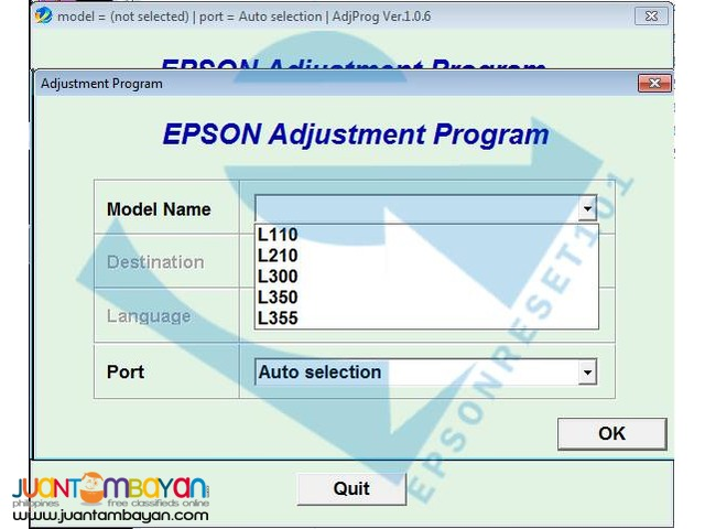 Epson dx7400 adjustment program
