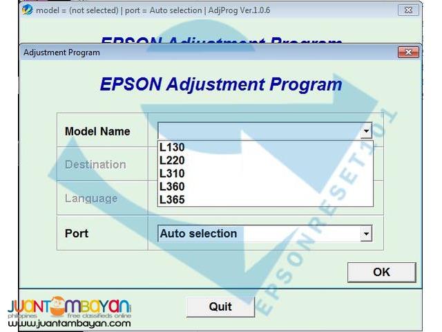 EPSON Adjustment Program (Resetter)