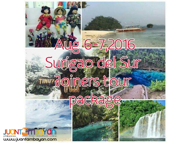 2 days 1 night Surigao del Sur  Joiners travel and tour packages