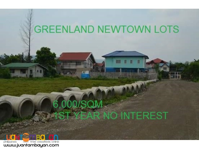 6,000/sqm ONLY! Lot for SALE at Greenland Newtown san mateo