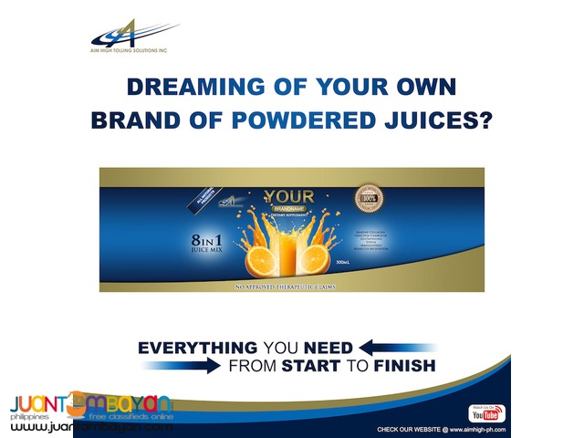 Toll Manufacturing for Powdered Juices