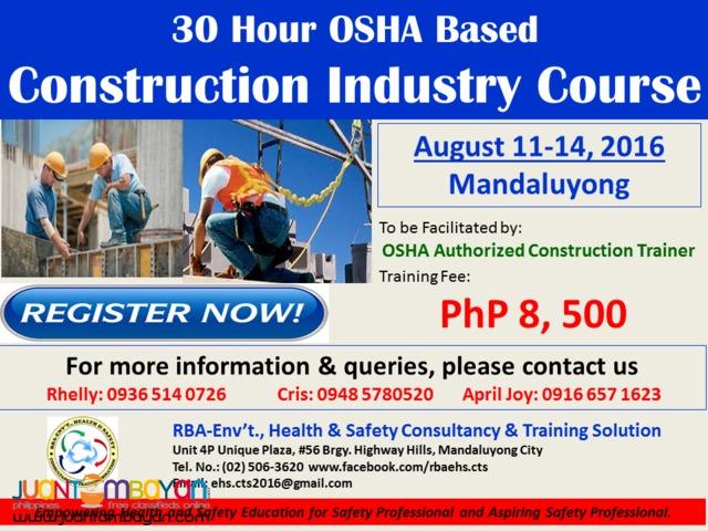 OSHA Based Construction Industry Course