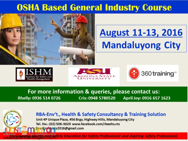 OSHA Based General Industry Safety Course