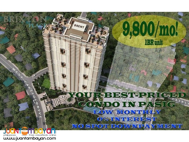 Condo in Pasig Kapitolyo Brixton Place near Ortigas and BGC
