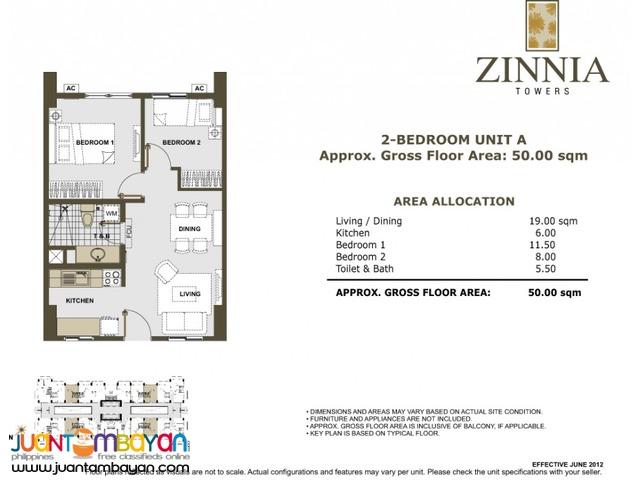 Zinnia Towers Condo in Muñoz Quezon City near SM North and Trinoma