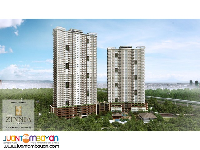 Zinnia Towers Condo in Muñoz Quezon City near SM North and Trinoma
