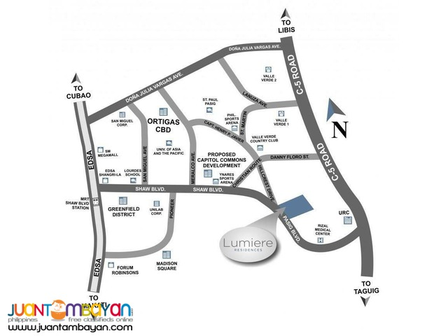 Condo in Pasig Lumiere Residences in Shaw Blvd near Ortigas by DMCI