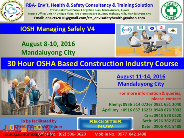 IOSH / OSHA Based Safety Training ( International Safety Training)