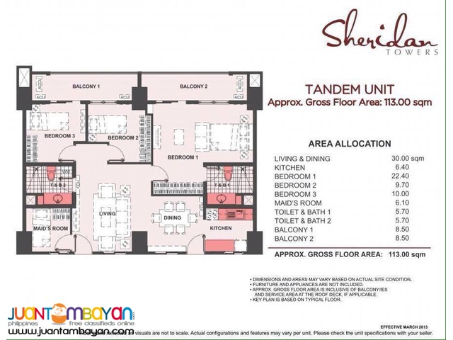 Condo in Mandaluyong Sheridan Towers near Edsa Boni MRT Station DMCI