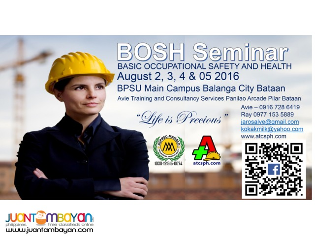 BOSH Training August 2, 3 ,4 and 5 2016@BPSU Campus Balanga City