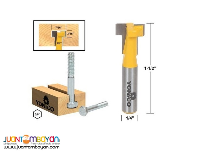 Yonico 14190q T-Slot Cutter Router Bit for 1/4