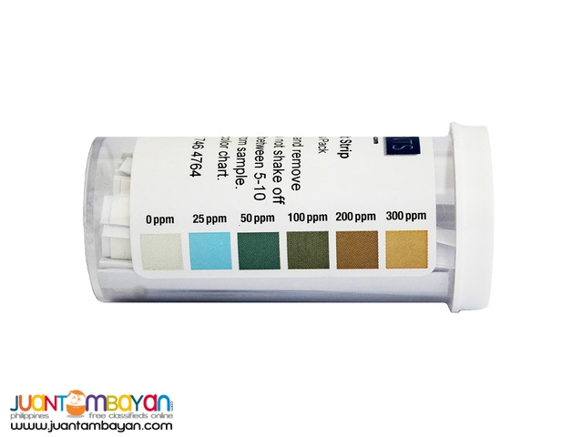 Chlorine Test Strips for Food 0 to 300 ppm
