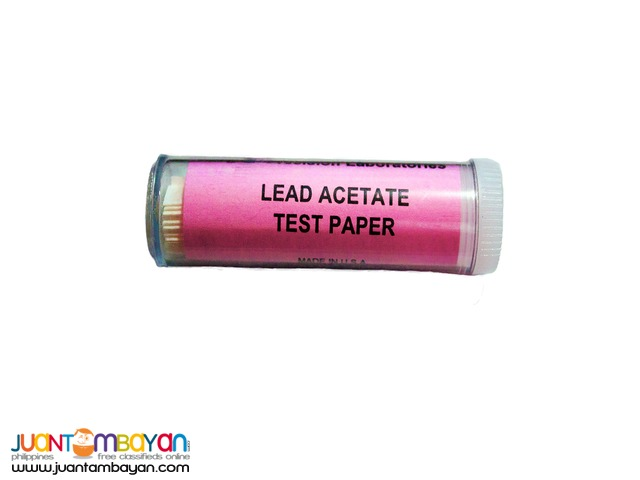 Lead Acetate Test Strips for Hydrogen Sulfide Detection