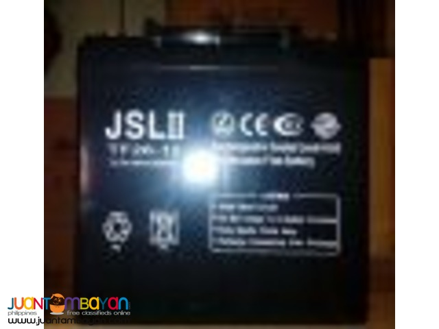 JSL II Sealed Lead Acid Battery 7AH / 12AH / 26AH - Solar Battery