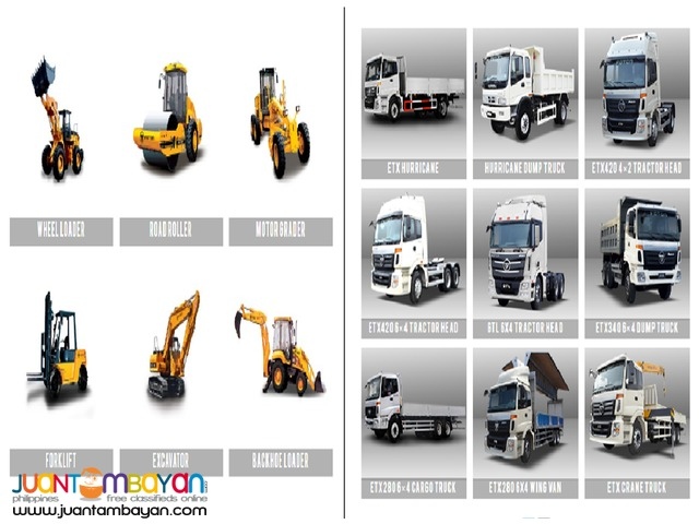 Foton Trucks and Heavy Equipments