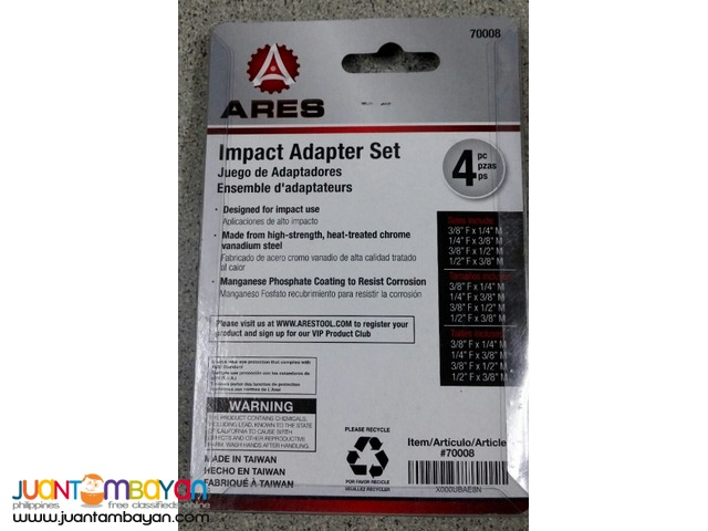 Ares 4-piece Impact Socket Adapter and Reducer Set