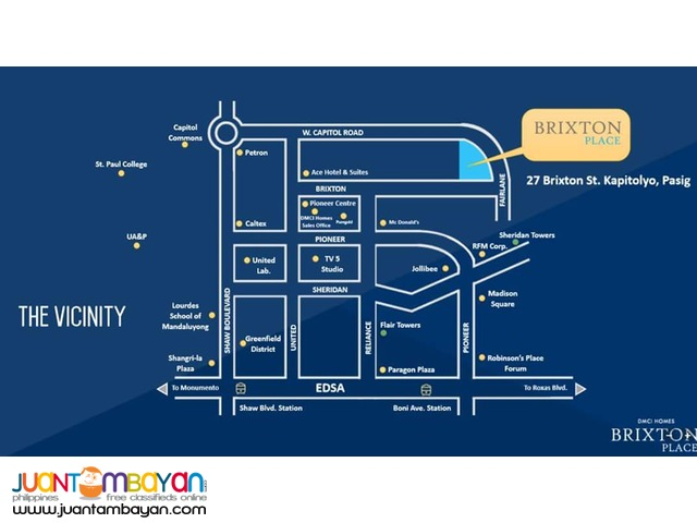 Condominium in Brixton Place Pasig for only 9K monthly!