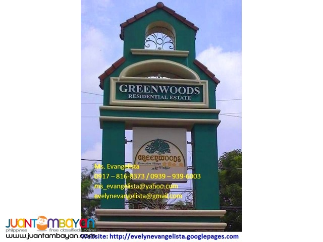 Greenwoods Exec. Village Phase 8A1 @ P 1,914,000