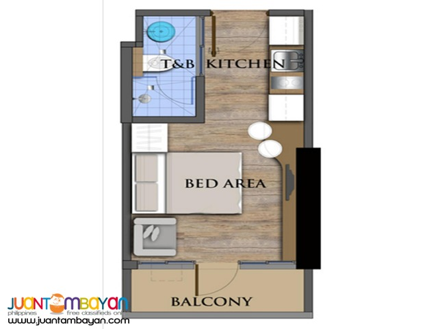 For Sale Studio Unit in The Commonwealth Residences, Quezon City
