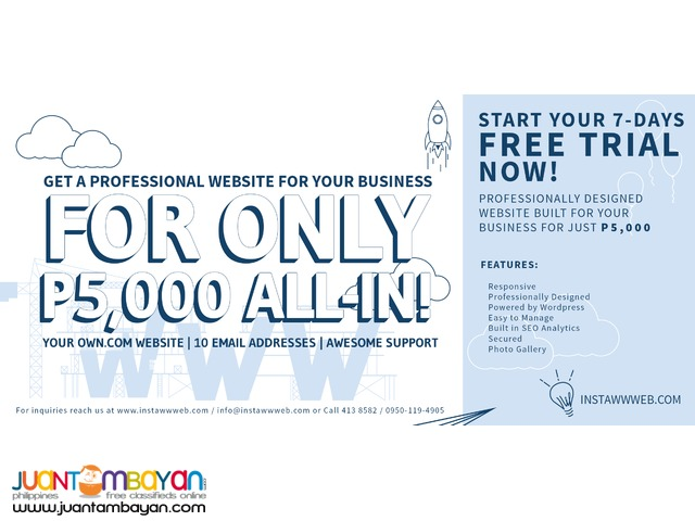 Responsive and User-friendly instant website for SME's.