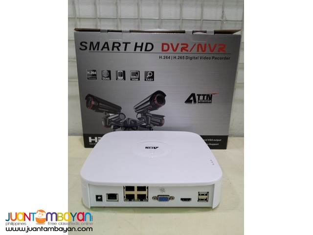 4Channel Network Video Recorder with Built-in PoE
