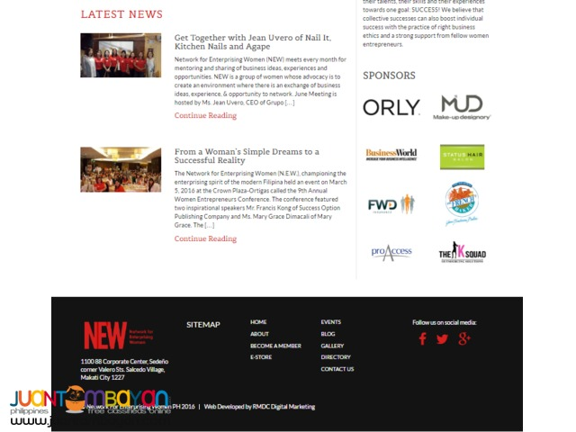Responsive and User-friendly instant website for SME.