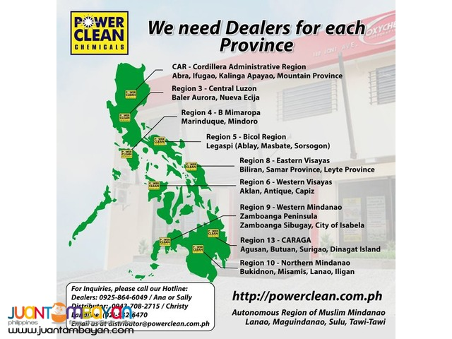 Need of Dealers for the Following Provinces