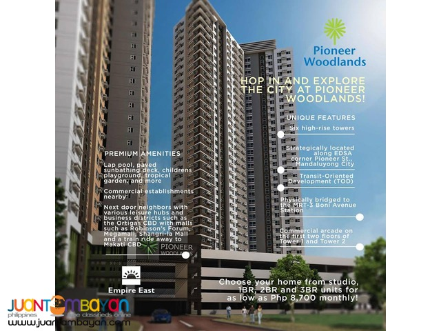 Investment Wise Rent-To-Own 2BR Condo in Mandaluyong! Only 5% DP!